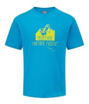 MONTANE Big Mountain T-Shirt Blue Spark Man